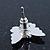 Teen Rhodium Plated Black Crystal 'Butterfly' Stud Earrings - 15mm Width - view 7