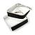 Contemporary Square Black Enamel Hoop Earrings In Rhodium Plating - 40mm Width - view 4
