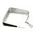 Contemporary Square Black Enamel Hoop Earrings In Rhodium Plating - 40mm Width - view 6