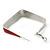 Contemporary Square Red Enamel Hoop Earrings In Rhodium Plating - 40mm Width - view 5