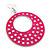 Large Lightweight Fuchsia Enamel Hoop Earrings In Rhodium Plating - 8cm Drop - view 4