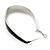 Rhodium Plated Black Enamel Oval Hoop Earrings - 6cm Length - view 5