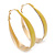 Gold Plated Yellow Enamel Oval Hoop Earrings - 6cm Length - view 7