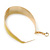 Gold Plated Yellow Enamel Oval Hoop Earrings - 6cm Length - view 6