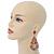 Oversized Multicoloured Acrylic Bead Teardrop Earrings In Gold Tone - 90mm L - view 8