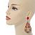Oversized Multicoloured Acrylic Bead Teardrop Earrings In Gold Tone - 90mm L - view 2