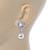 Bridal Wedding Prom Glass Pearl, Crystal Teardrop Earrings In Rhodium Plating - 30mm L - view 5