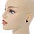 Small Black Acrylic Heart Stud Earrings In Silver Tone - 10mm L - view 6