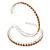 Large Topaz Austrian Crystal Hoop Earrings In Rhodium Plating - 6cm D