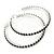 Jet Black Crystal Hoop Earrings In Rhodium Plating - 60mm D - view 7