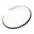 Jet Black Crystal Hoop Earrings In Rhodium Plating - 60mm D - view 6
