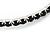 Jet Black Crystal Hoop Earrings In Rhodium Plating - 60mm D - view 4