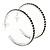 Jet Black Crystal Hoop Earrings In Rhodium Plating - 60mm D - view 5