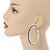 Jet Black Crystal Hoop Earrings In Rhodium Plating - 60mm D - view 8
