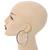Jet Black Crystal Hoop Earrings In Rhodium Plating - 60mm D - view 2