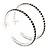 Deep Purple Crystal Hoop Earrings In Rhodium Plating - 60mm D