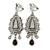 Vintage Inspired Chandelier Crystal Clip On Earrings In Silver Tone - 65mm L