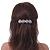 Bridal Wedding Prom Silver Tone Crystal Diamante 'Flower' Barrette Hair Clip Grip - 85mm Across - view 4