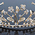 Delicate Bridal/ Wedding/ Prom Gold Plated Austrian Crystal Floral Tiara - view 2