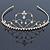 Bridal/ Wedding/ Prom Gold Plated Austrian Crystal Triple Heart Tiara