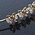Bridal/ Wedding/ Prom Gold Plated Clear Crystal Floral Tiara Headband - view 4