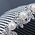 Bridal/ Wedding/ Prom/ Party Rhodium Plated Austrian Crystal Butterfly & Simulated Pearl Hair Comb/ Tiara - 10cm - view 3
