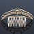 Bridal/ Wedding/ Prom/ Party Gold Plated Swarovski Crystal Hair Comb/ Tiara - 12cm - view 6