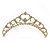 Bridal/ Wedding/ Prom/ Party Gold Plated Swarovski Crystal Hair Comb/ Tiara - 12cm - view 2