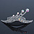 Bridal/ Wedding/ Prom/ Party Rhodium Plated 'Shooting Star' Swarovski Crystal Hair Comb Tiara - 11cm - view 1