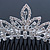 Bridal/ Wedding/ Prom/ Party Rhodium Plated  Swarovski Crystal Hair Comb Tiara - 11cm - view 2