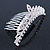 Bridal/ Wedding/ Prom/ Party Rhodium Plated  Swarovski Crystal Hair Comb Tiara - 11cm - view 3