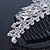 Bridal/ Wedding/ Prom/ Party Rhodium Plated  Swarovski Crystal Hair Comb Tiara - 11cm - view 4