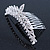 Bridal/ Wedding/ Prom/ Party Rhodium Plated  Swarovski Crystal Hair Comb Tiara - 11cm - view 5
