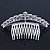 Bridal/ Wedding/ Prom/ Party Rhodium Plated  Swarovski Crystal Hair Comb Tiara - 11cm - view 6