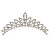 Bridal/ Wedding/ Prom/ Party Rhodium Plated  Swarovski Crystal Hair Comb Tiara - 11cm - view 7