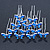 Bridal/ Wedding/ Prom/ Party Set Of 12 Silver Tone Sapphire Blue Coloured CZ Butterfly Hair Pins