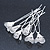 Bridal/ Wedding/ Prom/ Party Set Of 6 Rhodium Plated Crystal Lily Flower Hair Pins