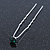 Bridal/ Wedding/ Prom/ Party Single Emerald Green Crystal Hair Pin In Silver Tone - 70mm L - view 6