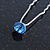 Bridal/ Wedding/ Prom/ Party Single Light Blue Crystal Hair Pin In Silver Tone - 70mm L - view 3