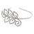 Bridal/ Wedding/ Prom Rhodium Plated Clear Crystal Leaf Tiara Headband - view 5