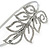 Bridal/ Wedding/ Prom Rhodium Plated Clear Crystal Leaf Tiara Headband - view 3