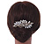 Oversized Bridal/ Wedding/ Prom/ Party Antique Gold Crystal, Pearl Floral Hair Comb - 100mm - view 2