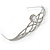 Bridal/ Wedding/ Prom Rhodium Plated CZ, Clear Crystal 'Regal' Classic Tiara - view 6