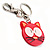 Plastic Funky Cat Key Ring/Handbag Charms (Pink) - view 3