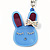 Cute Blue Plastic Bunny Key-Ring With Crystal Bow
