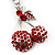 Ruby Red Diamante Cherry Keyring - view 4