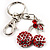 Ruby Red Diamante Cherry Keyring - view 1