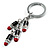 Silver Tone Crystal Enamel Lipstick Keyring/ Bag Charm - view 4
