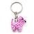 Baby Pink Glass Bead Scottie Dog Keyring/ Bag Charm - 8cm Length - view 7