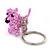 Baby Pink Glass Bead Scottie Dog Keyring/ Bag Charm - 8cm Length - view 9